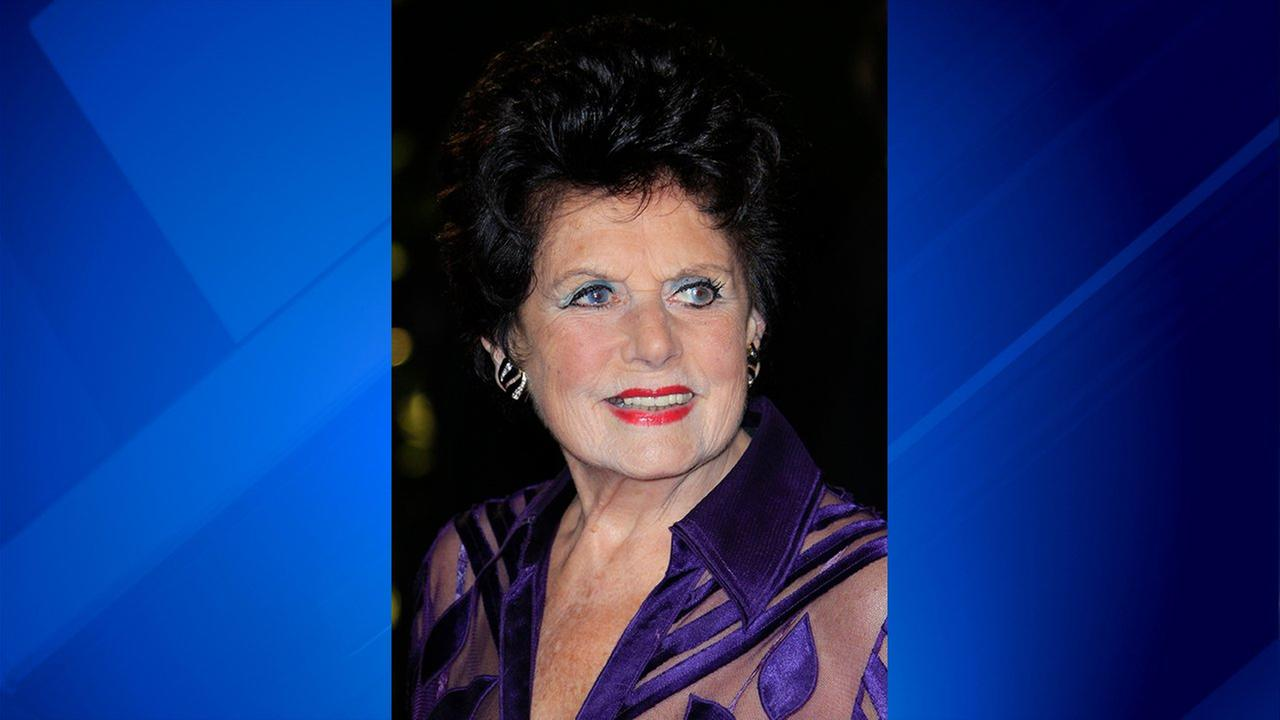 Eunice Gayson arrives at the world premiere of Skyfall at the Royal Albert Hall on Tuesday, Oct. 23, 2012 in London.