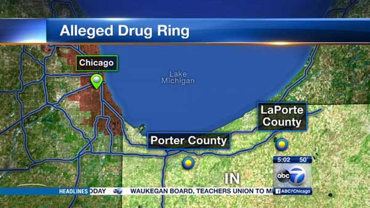 Nine people are facing federal drug and conspiracy charges for allegedly running a drug operation from Chicago to northwest Indiana since 2009.