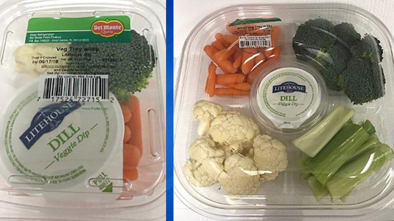 Del Monte vegetable trays recalled in Illinois, Indiana and other Midwest states