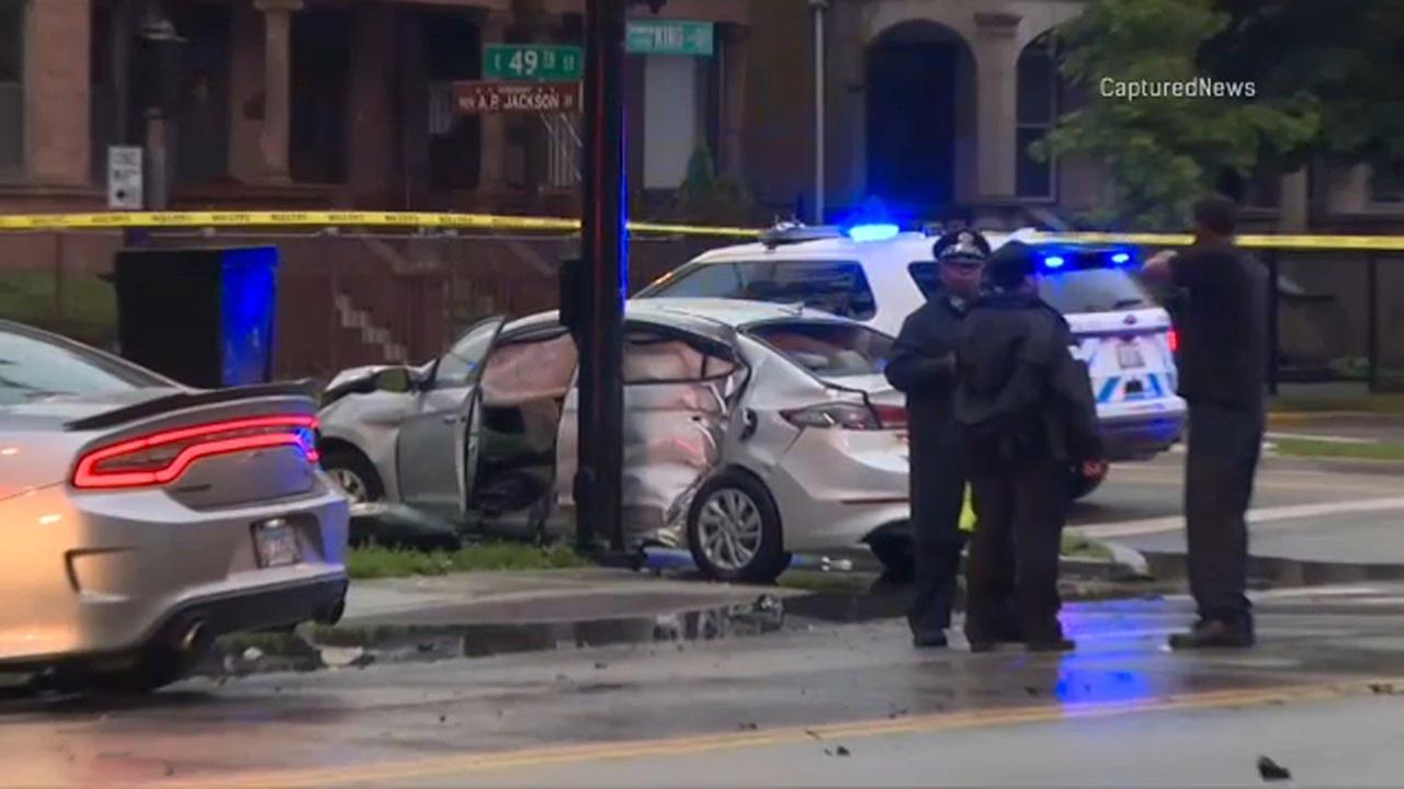 Child critically injured in Bronzeville crash dies, police say