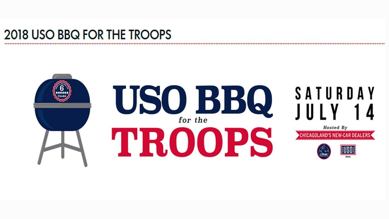 USO BBQ for the troops