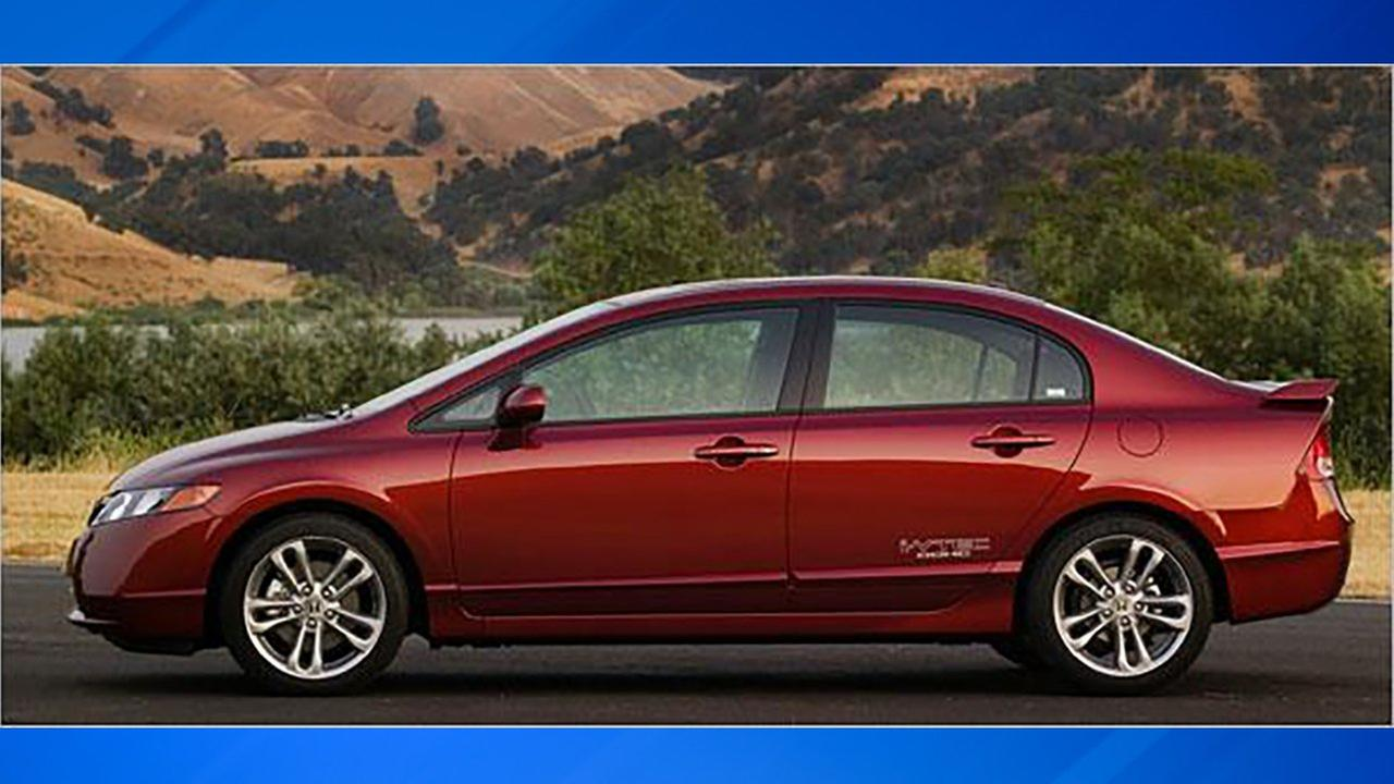 A stock image of a Honda Civic similar to the one wanted in connection with a hit and run.