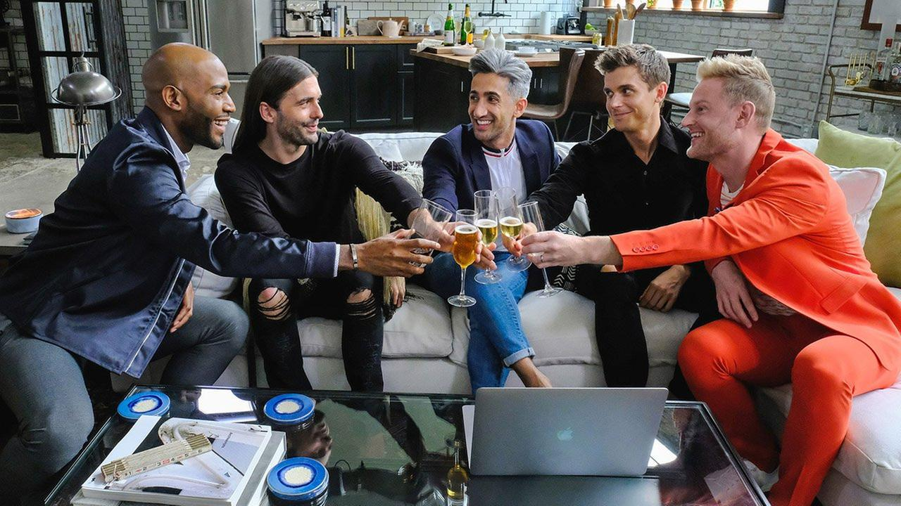 The cast of Queer Eye for the Straight Guy.