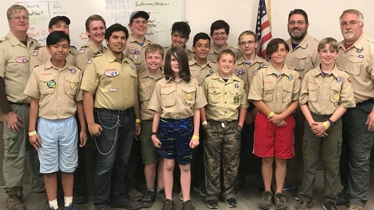 The Scouts of Troop #93, of Lake Zurich, Illinois.