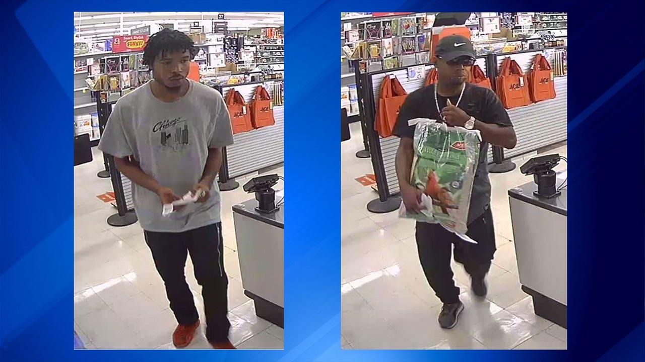 Police have released photos of two people suspected of stealing from a hardware store last week in northwest Indiana.