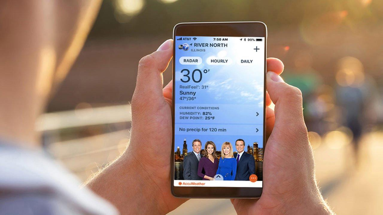 Get the ABC7 Chicago AccuWeather app for minute-by-minute forecasts today