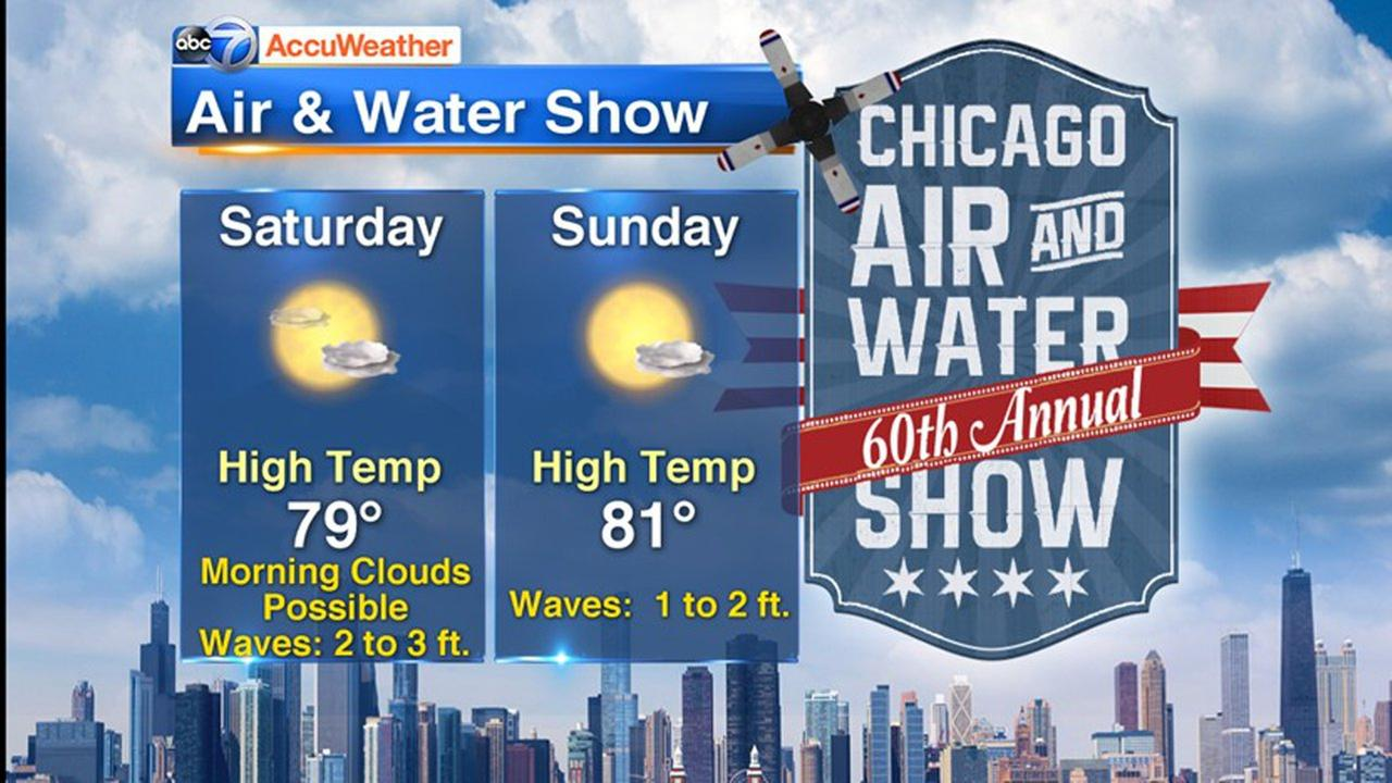 Chicago Air and Water Show weather forecast: Mostly sunny skies with isolated showers possible