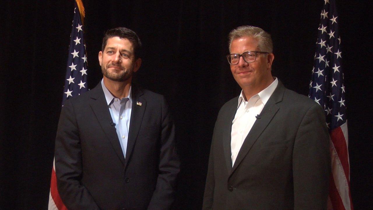 Speaker Paul Ryan campaigns for Democrat-targeted congressman