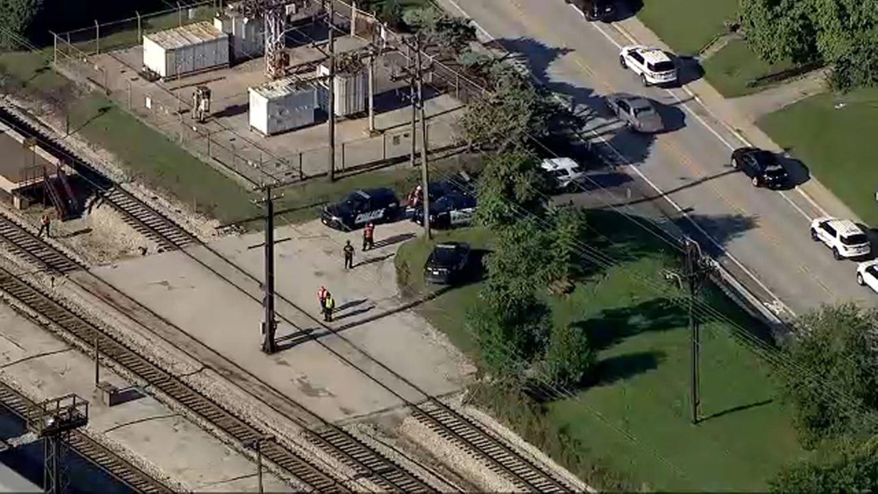 Police investigate after a pedestrian was struck by a Metra Electric District train in Homewood Tuesday morning.