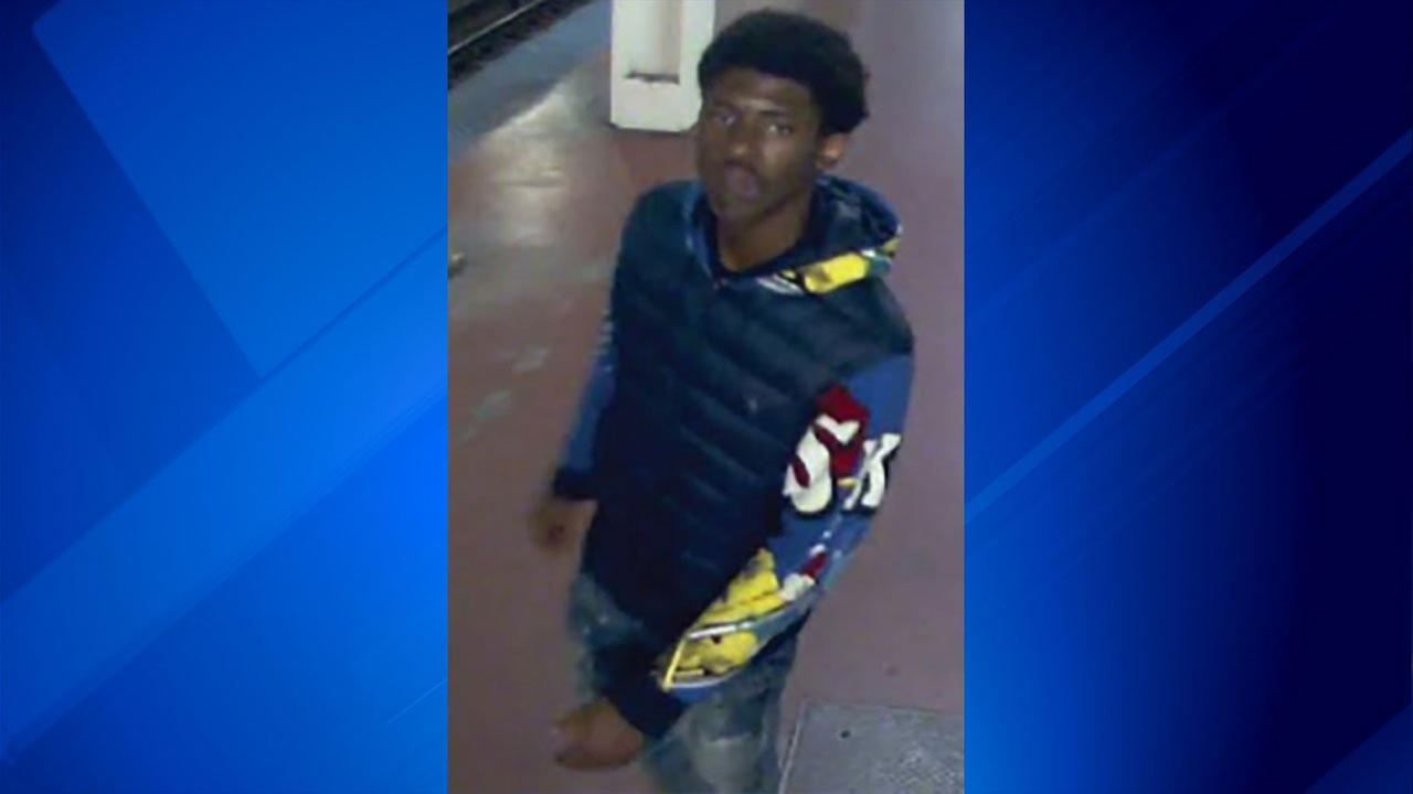 The male suspect who allegedly robbed a person Sept. 6 at the LaSalle Blue Line station.