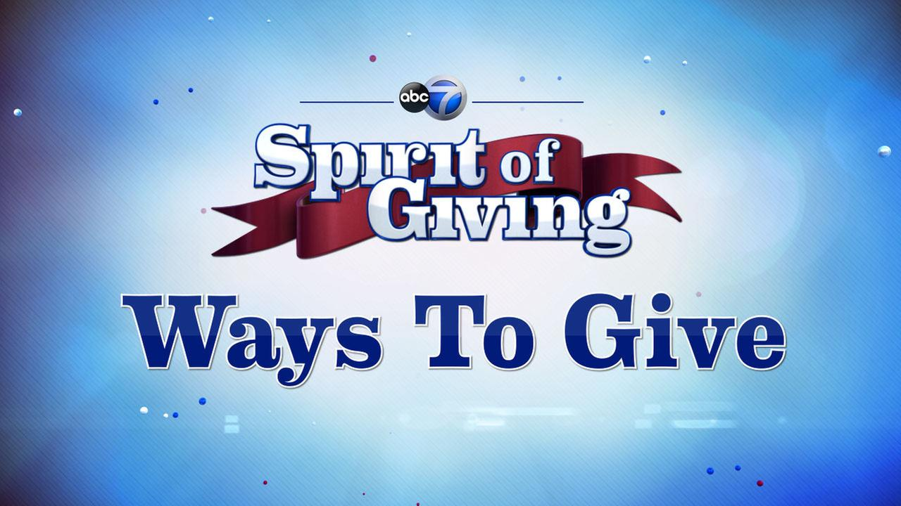 ABC-7 Spirit of Giving: Ways to Give