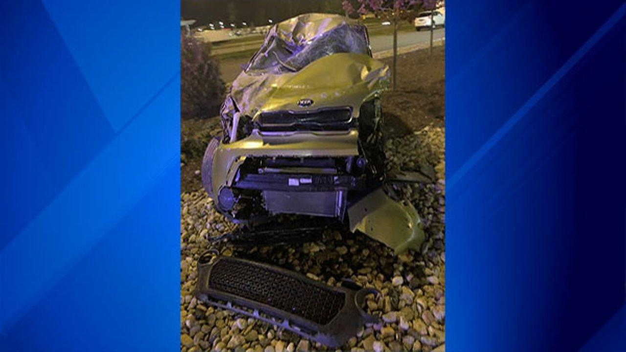 A man crashed a stolen car on the Indiana Toll Road Thursday.