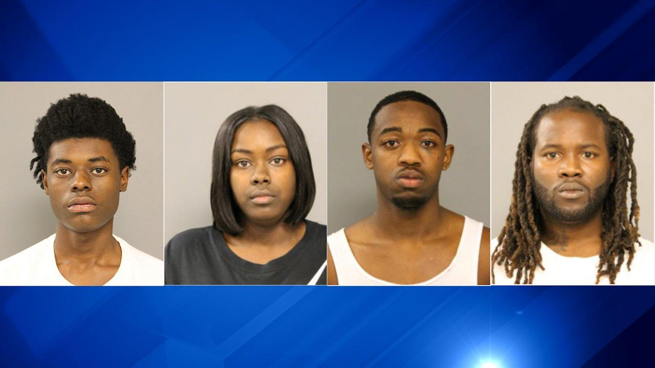 Tashawn Booker, 18; Janice Lewis, 20; Senneca Traylor, 19; and Robert Williams, 28.
