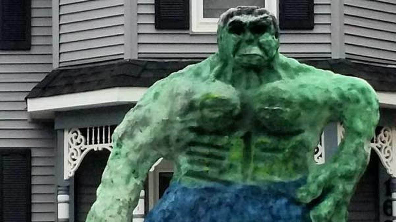 16-foot 'Snow Hulk' grabs attention in Naperville
