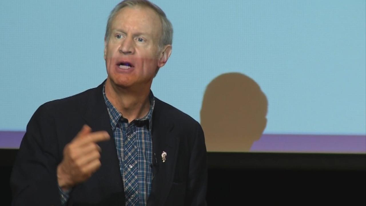 (FILE) Illinois Gov. Bruce Rauner.