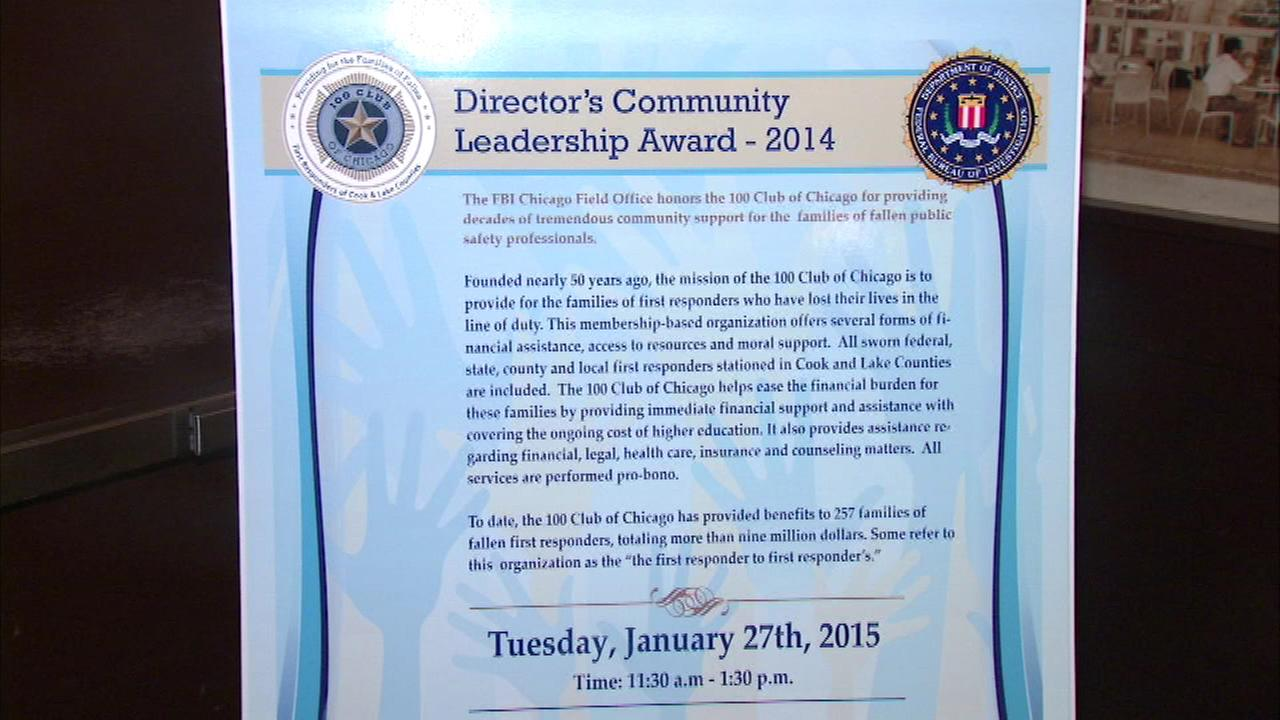 100 Club of Chicago honored by FBI