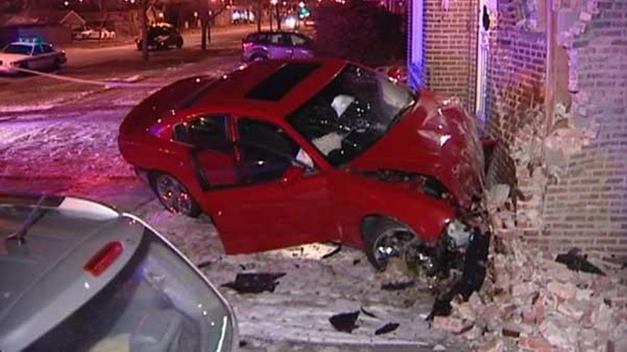 Car crashes into Washington Heights home; driver critically hurt