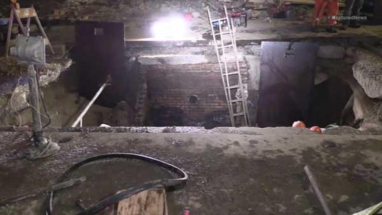 2 city workers jump into 10 ft. trench to avoid being hit by vehicle on South Side