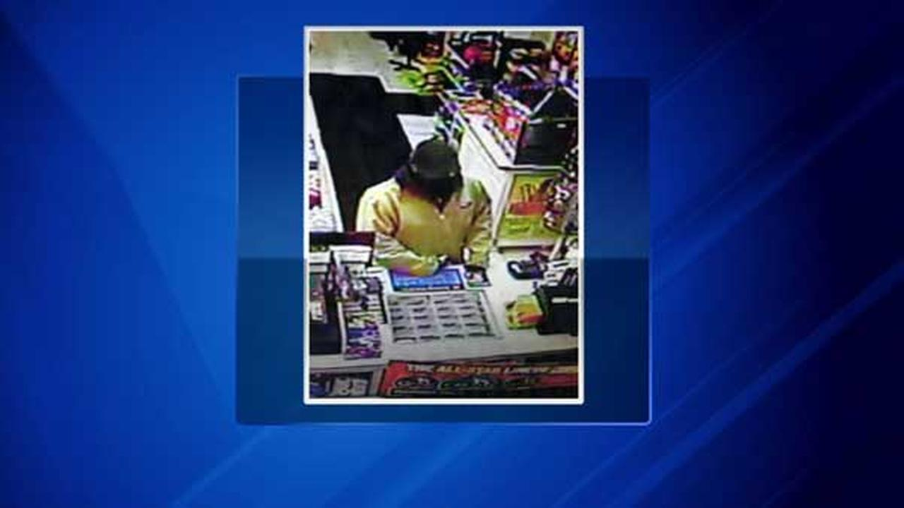 A surveillance photo shows suspect in armed robbery of Citgo gas station in far north suburban Woodstock.