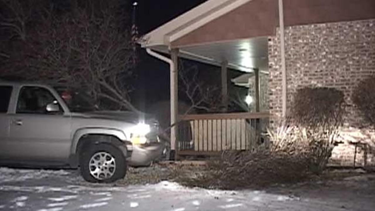 SUV slams into Mokena home