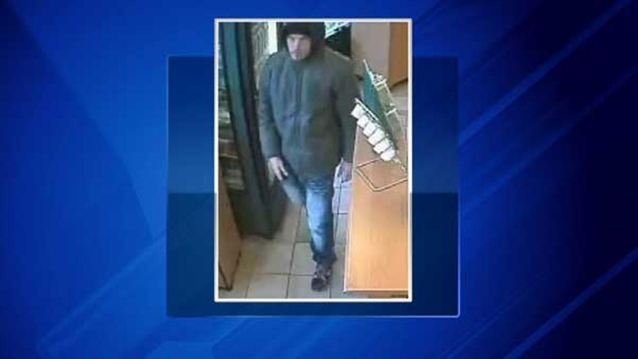 Surveillance photo of suspect in robbery of fast food restaurant in the 3700-block of North Clark Street.