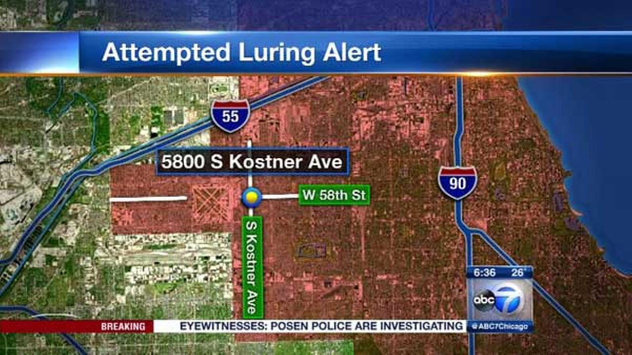 Man tried to lure 2 girls into vehicle on SW Side, police say