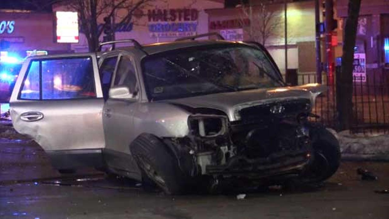 3 injured in Englewood crash involving stolen SUV