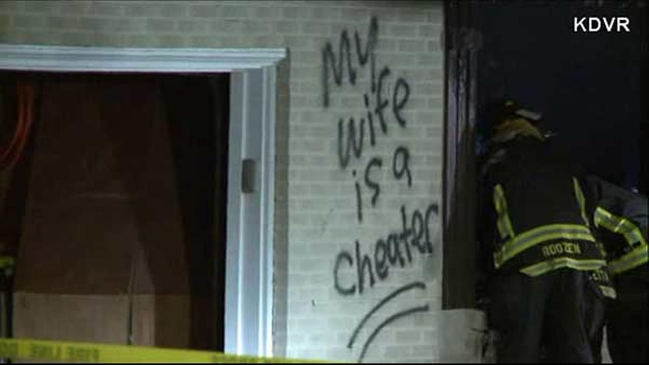 'My wife is a cheater' spray-painted on home that exploded, caught fire