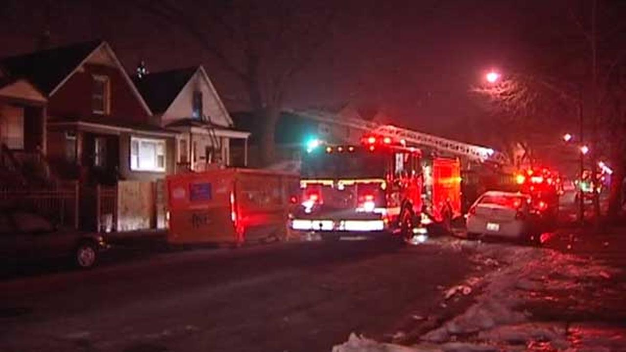 No injuries in Englewood house fire; 12 displaced