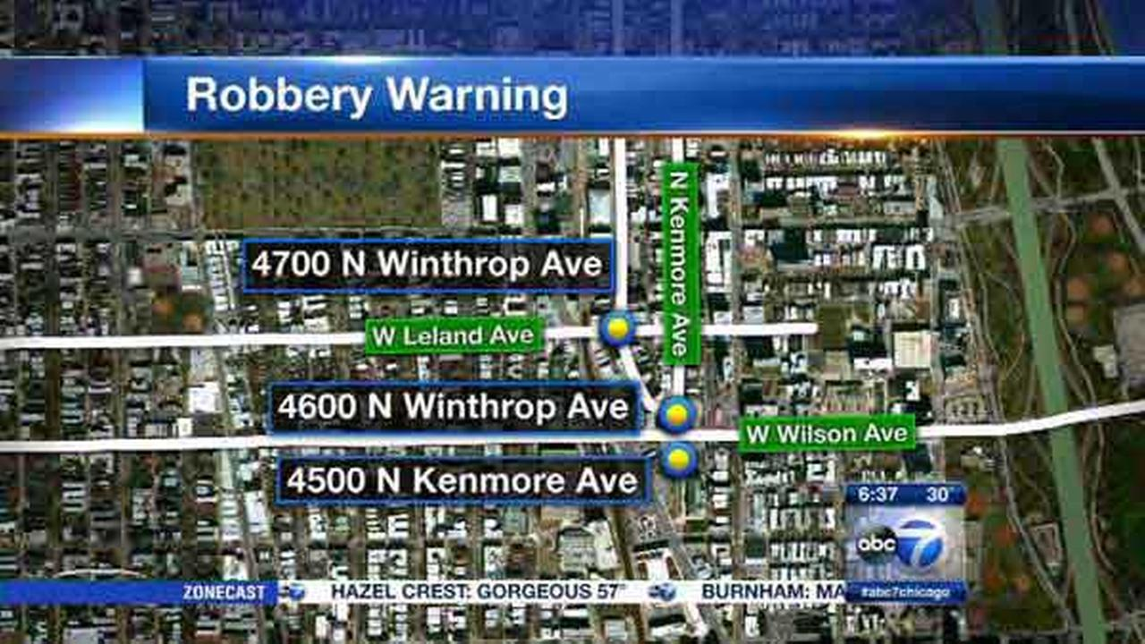 Police warn of armed robberies in Uptown