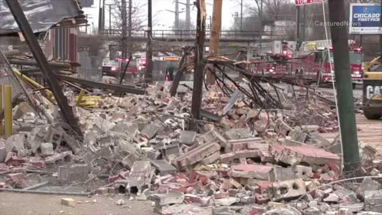 No injuries in Little Village building collapse