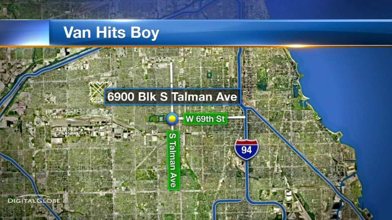 Boy, 3, critically struck by van on SW Side
