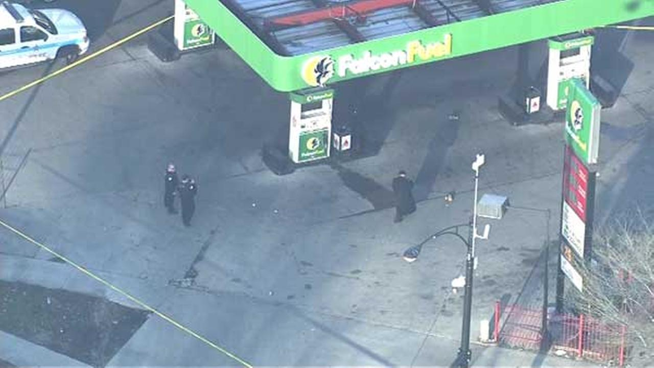 1 critically hurt in Englewood gas station shooting
