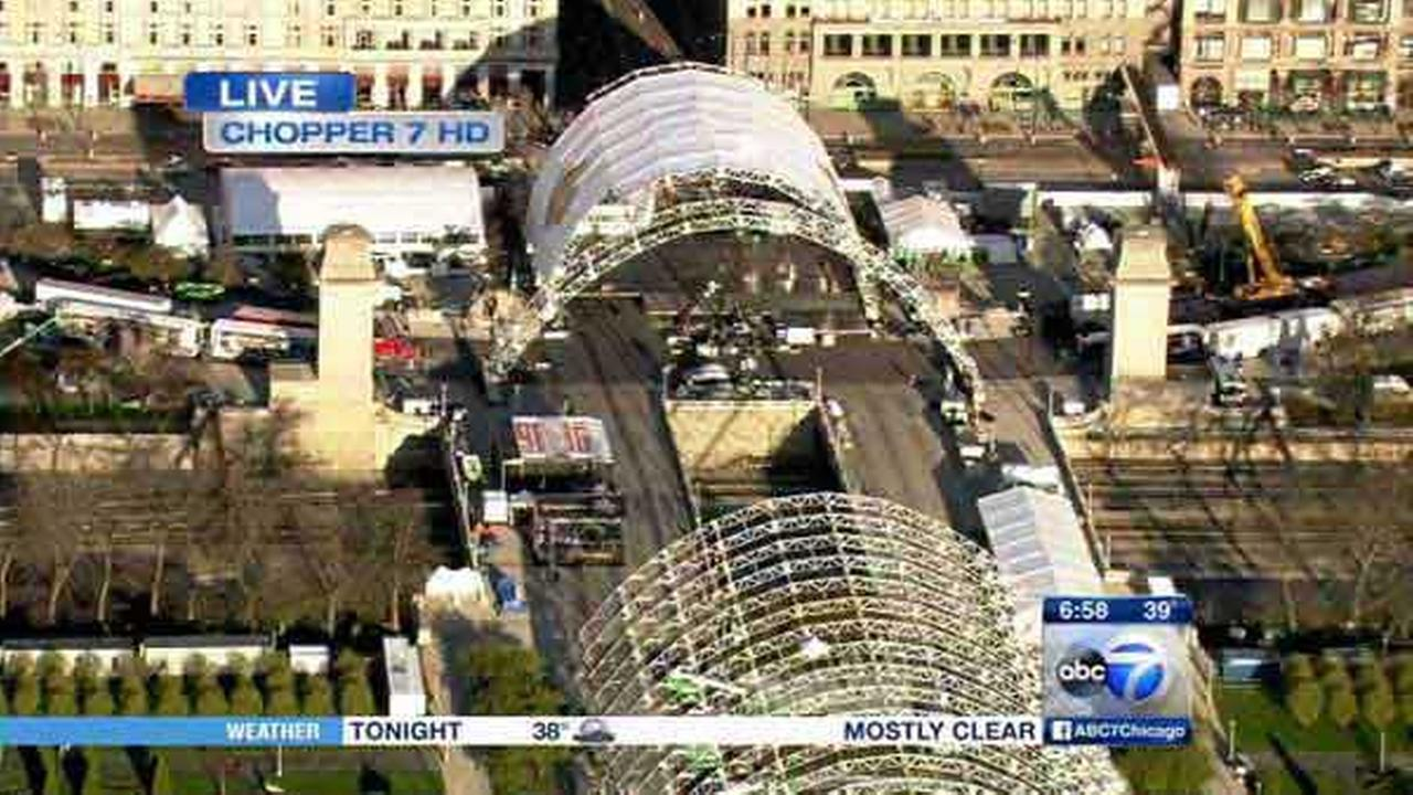 Chicago prepares for 2015 NFL Draft; Columbus Drive closed between Balbo, Jackson