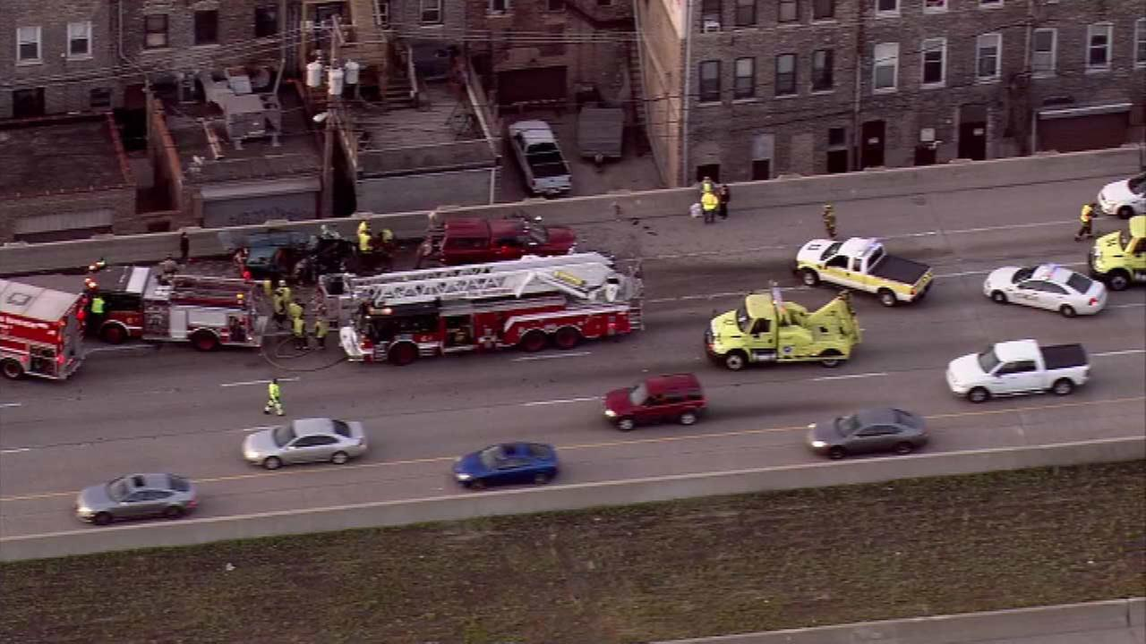 Fatal crash on IB Stevenson snarls traffic