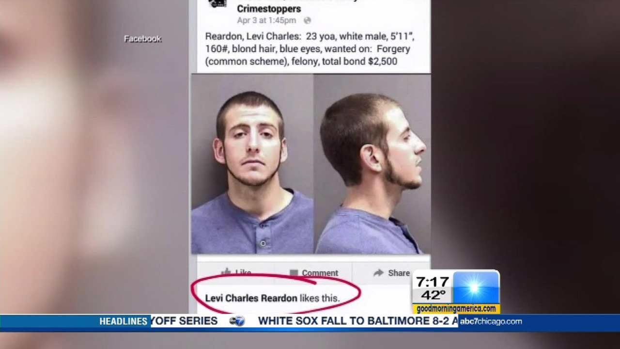 Montana man caught after liking own mugshot on CrimeStoppers page