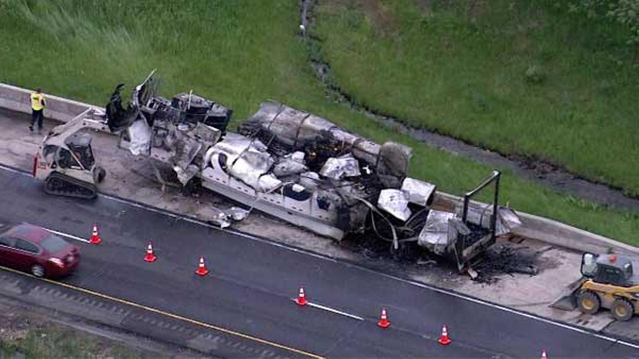 All lanes of SB IL-394 near Glenwood re-opened after truck fire cleanup