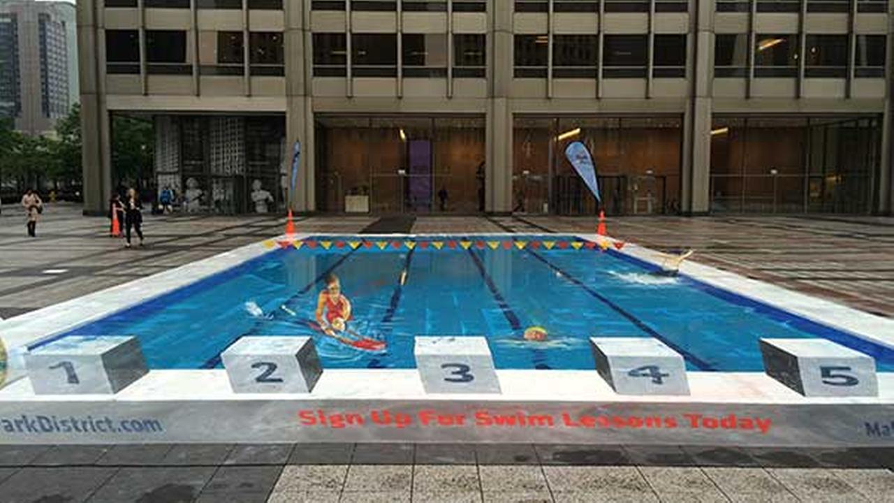 3D pool mural aims to help prevent child drownings