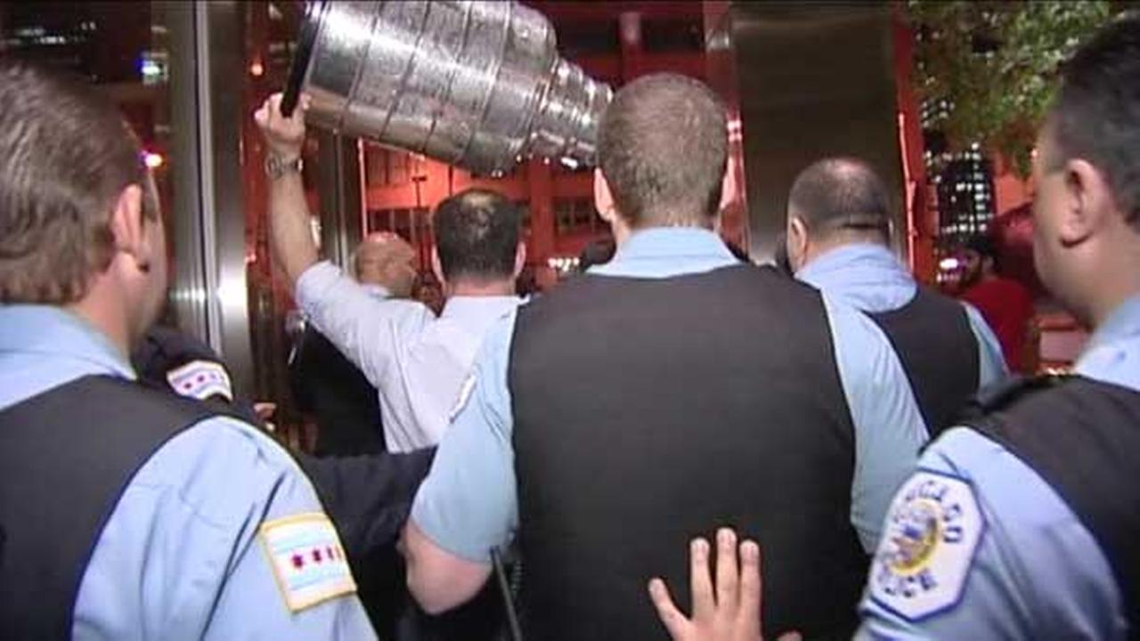 The Stanley Cup was spotted at Chicago Cut Steakhouse late Thursday night.