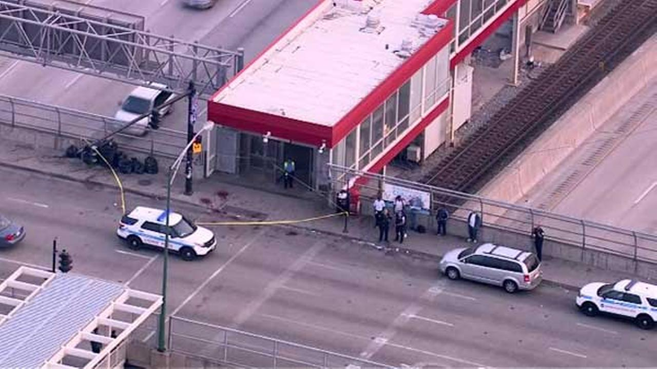 Man stabbed in head near Garfield Red Line station
