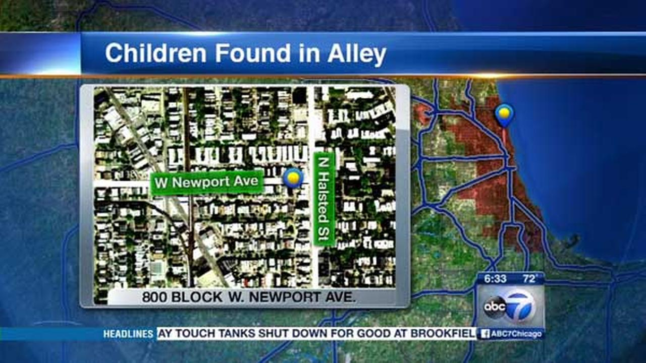 2 young children found alone in Lakeview alley