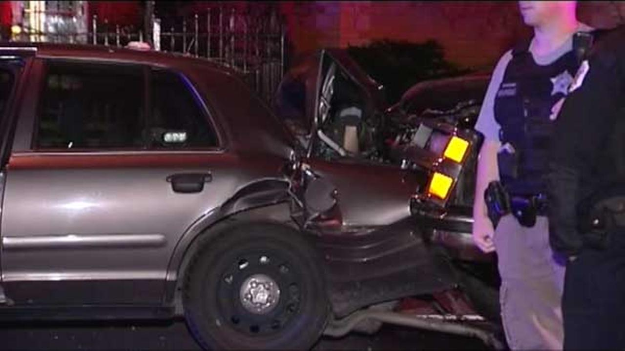 2 police officers injured in South Shore crash