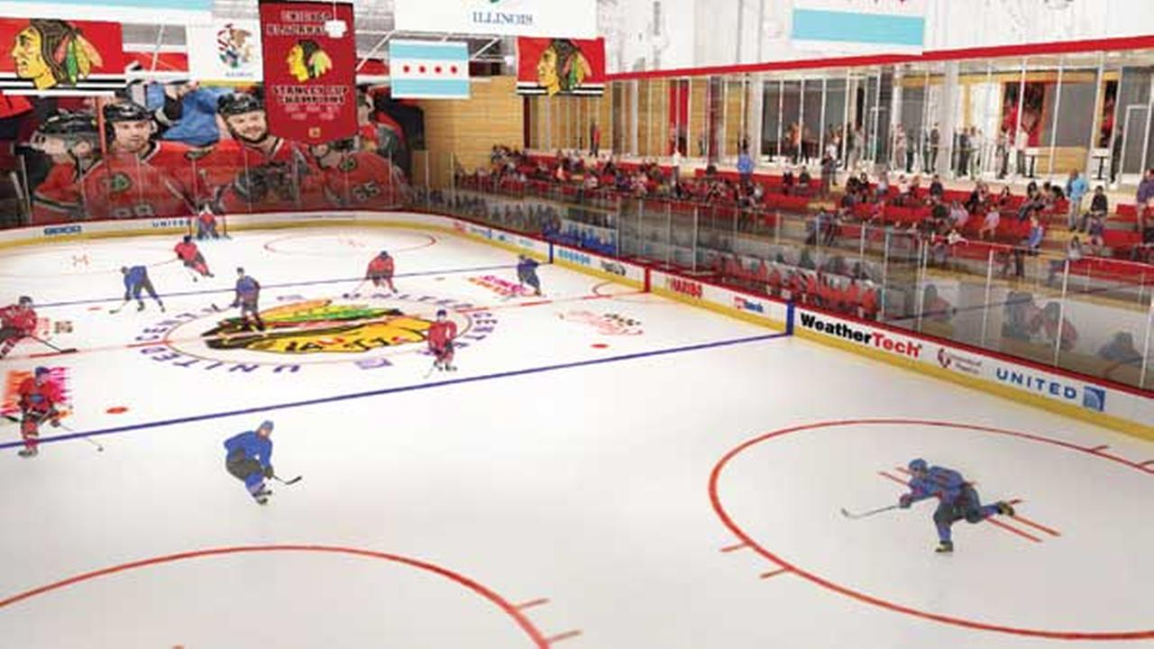 The Chicago Blackhawks will soon have a new practice facility across the street from the United Center.