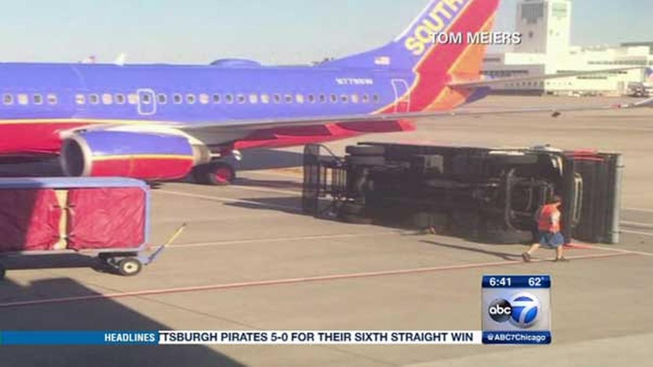 A Southwest Airlines plane ran into trouble when it hit a service vehicle at Denver International Airport.