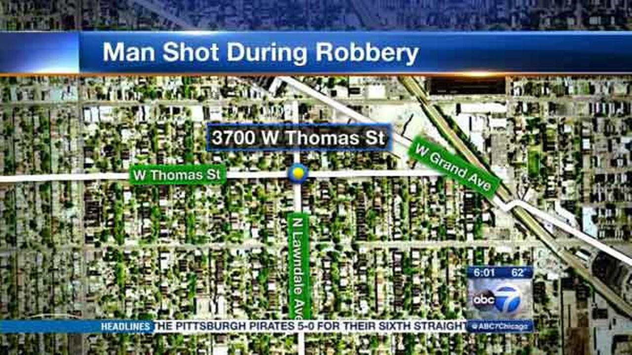 A 62-year-old man was shot and robbed in Chicagos Humboldt Park neighborhood.
