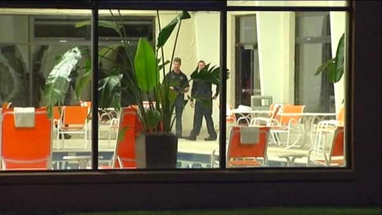 A 3-year-old girl was found unresponsive at a hotel pool in north suburban Gurnee.