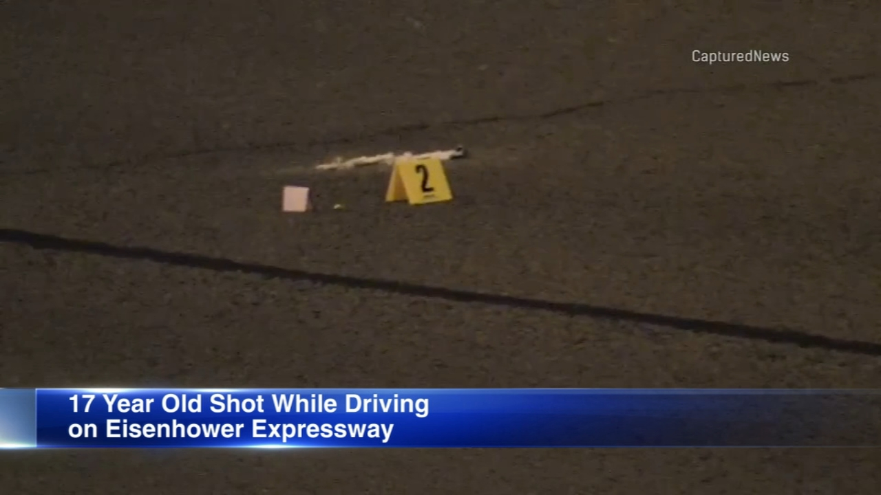 A 17-year-old boy was critically wounded while driving in a shooting on the Eisenhower Expressway Wednesday morning.
