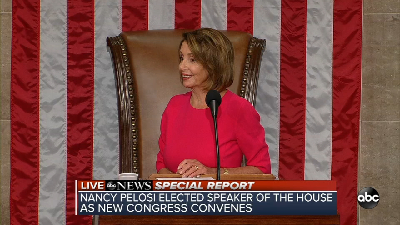 Rep. Nancy Pelosi addressed the 116th U.S. Congress after being elected Speaker of the House for the second time.