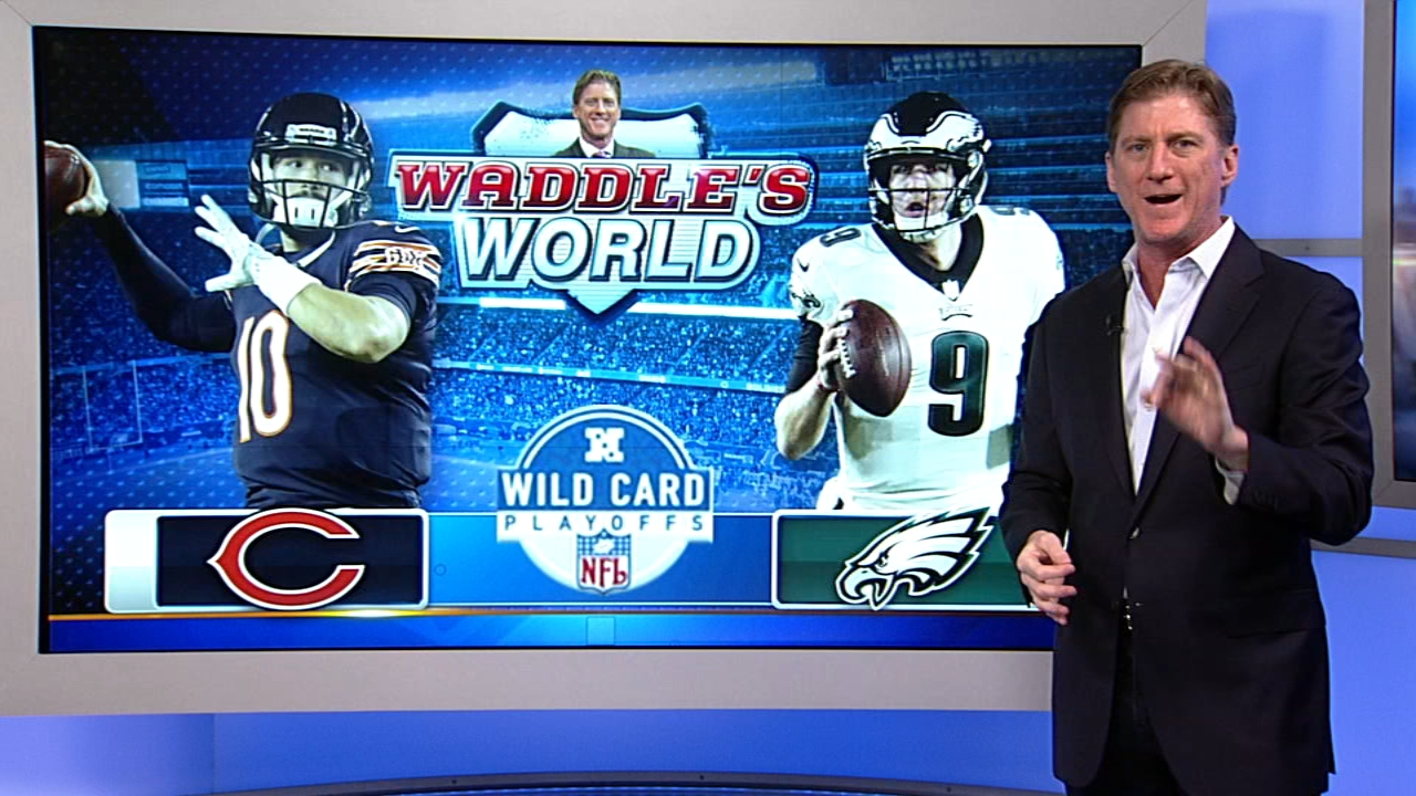 Former Chicago Bears player Tom Waddle predicts the score of the Bears-Eagles game on Sunday.