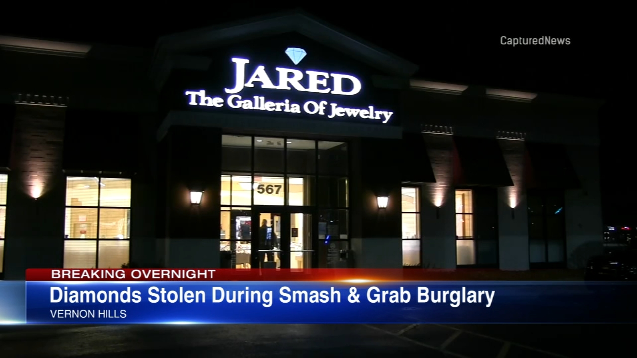 Diamonds were stolen during a smash-and-grab robbery in Vernon HIlls Friday.